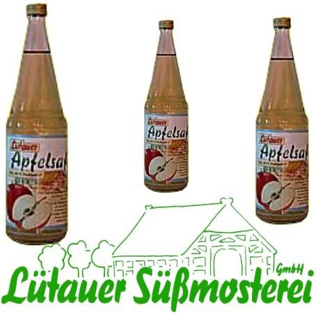 Lütauer Apfelsaft klar (6/0,7 Ltr. Glas)
