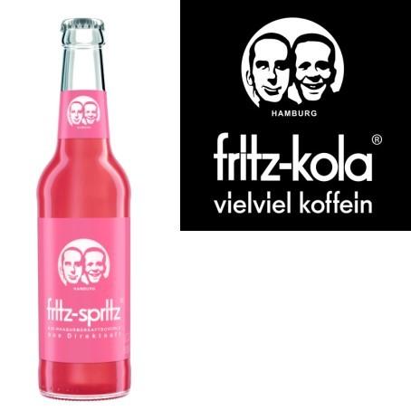 fritz -spritz Rhabarberschorle (24/0,33 Ltr. Glas)