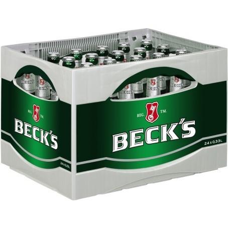 Becks Bier (24/0,33 Ltr. Glas)