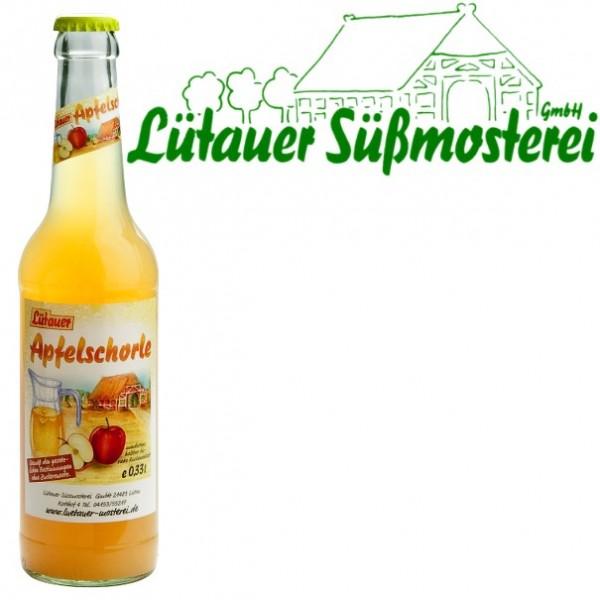 Lütauer Apfelschorle trüb (24/0,33 Ltr. Glas)