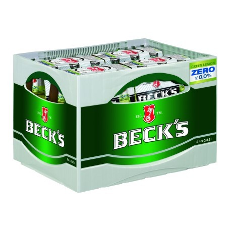 Becks Bier Green Lemon Zero (24/0,33 Ltr. Glas)