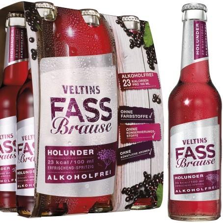 Veltins Fassbrause Holunder (24/0,33 Ltr. Glas MEHRWEG))