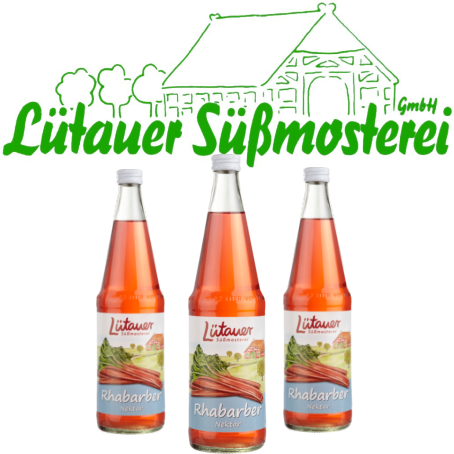 Lütauer Rhabarber-Nektar (6/0,7 Ltr. Glas MEHRWEG)