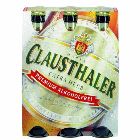 Clausthaler Extra herb (24/0,33 Ltr. Glas MEHRWEG)