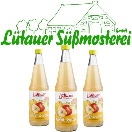 Lütauer Apfel-Quittensaft (6/0,7 Ltr. Glas MEHRWEG)