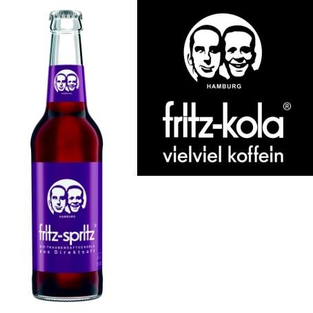 fritz -spritz Traubensaftschorle (24/0,33 Ltr. Glas MEHRWEG)