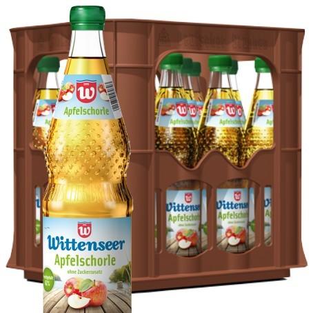 Wittenseer Apfelschorle (12/0,7 Ltr. Glas MEHRWEG)