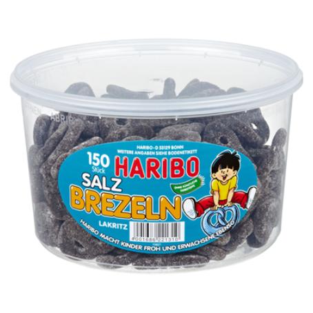 Haribo Salz Brezeln 150 Stück, (1,05 kg Dose)