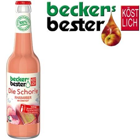 Beckers Bester Schorle Rhabarber (24/0,33 Ltr. Glas MEHRWEG)