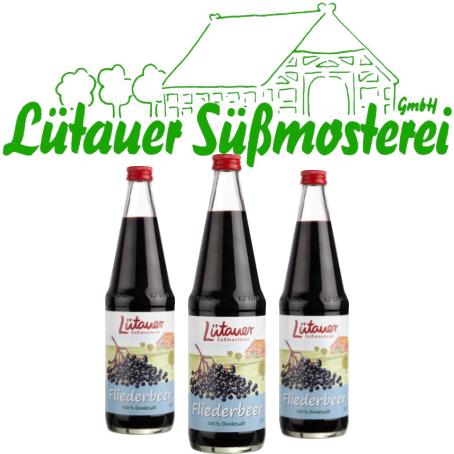 Lütauer Fliederbeersaft (6/0,7 Ltr. Glas MEHRWEG)