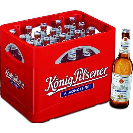 König Pils alkoholfrei (24/0,33 Ltr. Glas MEHRWEG)