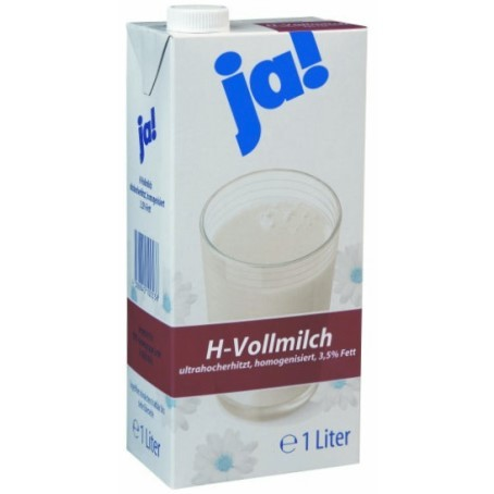 JA H-Vollmilch 3,5% Fett (12 x 1,0 Ltr.)