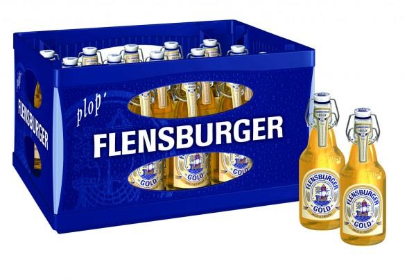Flensburger Pils Gold (20/0,33 Ltr. Glas MEHRWEG)