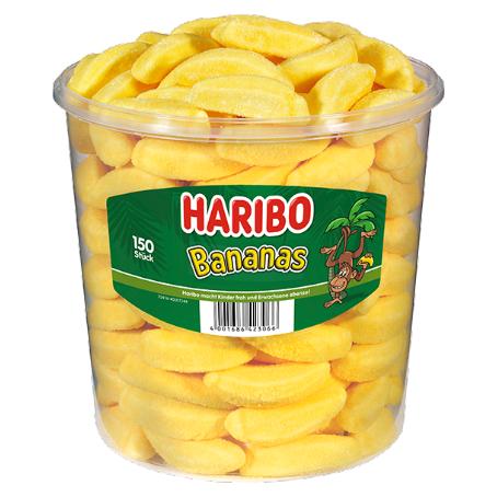Haribo Bananas 150 Stück, (1,05 kg Dose)