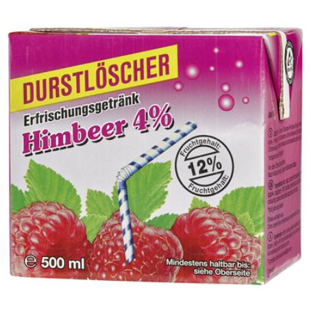 Durstlöscher Himbeere (12/0,5 l Packungen Einweg)