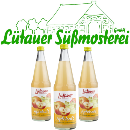 Lütauer Apfelsaft Streuobst (6/0,7 Ltr. Glas Mehrweg)