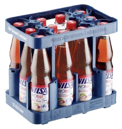 Vilsa H2 Obst PET Apfel-Kirsche (12/0,5 Ltr. PET MEHRWEG)