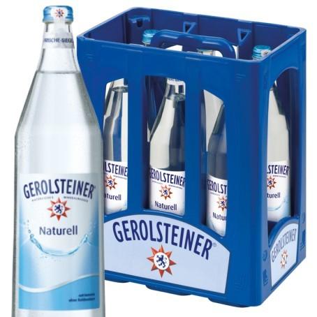 Gerolsteiner Naturell (6/1 Ltr. Glas MEHRWEG)