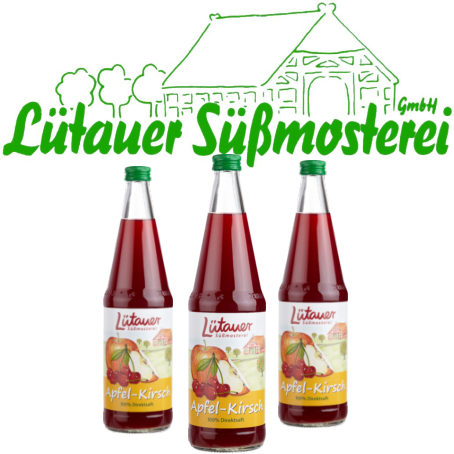 Lütauer Apfel-Kirschsaft (6/0,7 Ltr. Glas Mehrweg)