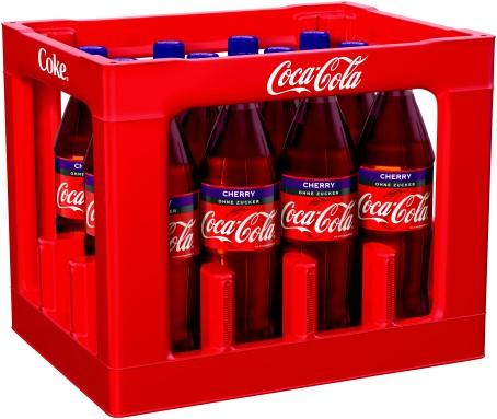 Coca Cola Zero Cherry (12/1,0 Ltr. PET MEHRWEG)