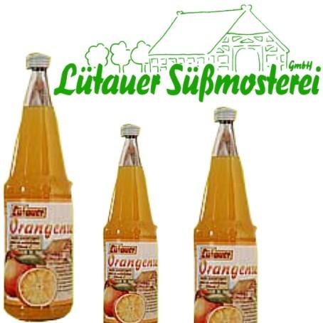 Lütauer Orangendirektsaft (6/0,7 Ltr. Glas MEHRWEG)